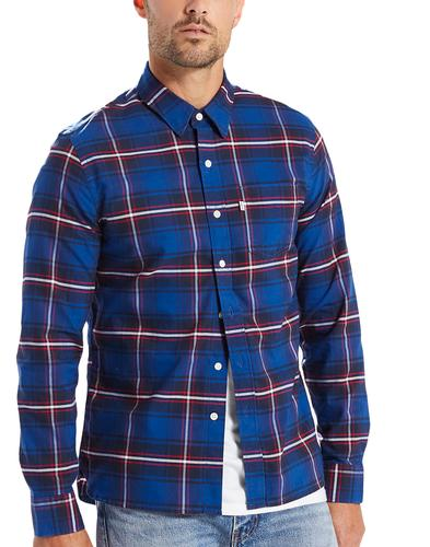 LEVI'S Mens Sunset Retro Check Shirt in Dress Blue