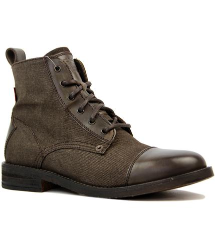 Raker Levi's® Canvas & Leather Mid Worker Boots