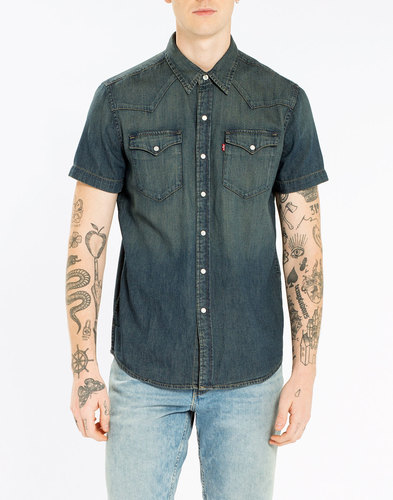 LEVI'S® Men's Retro SS Classic Denim Western Shirt