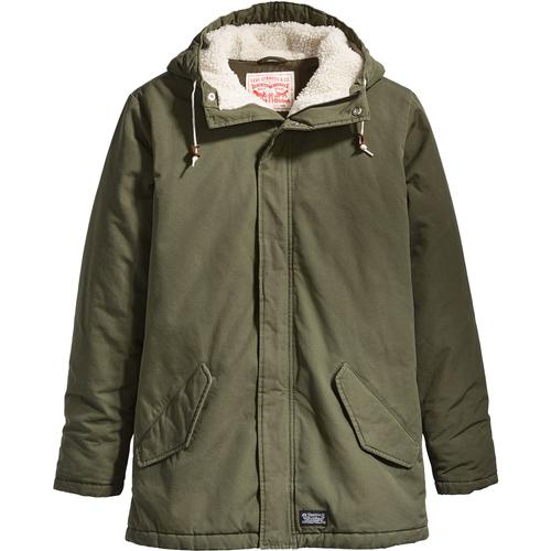 86f93d542 LEVIS Thermore 60s Mod Padded Parka Jacket in Olive Night