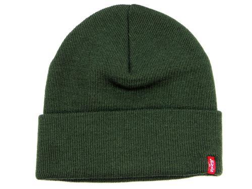 5fb5c4c6 LEVI'S® Retro Indie Knitted Winter Beanie Hat in Dark Green