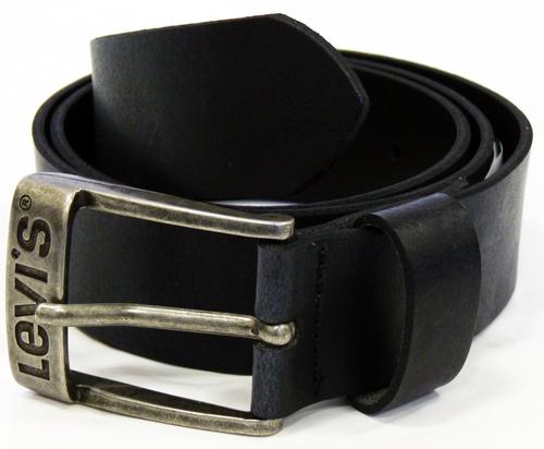 00e34558b8e9bc LEVI'S® Mens Mod Leather Belt in Black | Retro Mod Indie Belts