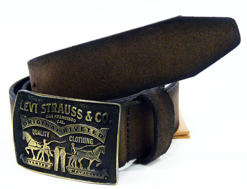 LEVI'S® Mens Leather Belt in Brown | Retro Mod Indie Belts