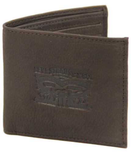 LEVI'S WALLETS RETRO HORSE BIFOLD WALLET BROWN