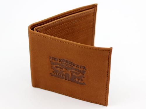 Levi's® Retro Horse Logo Leather Wallet (Brown)