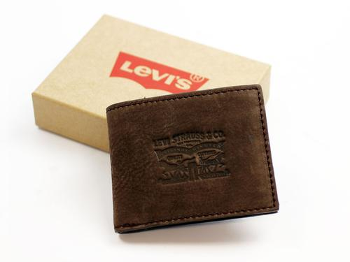 Rugged Billfold LEVI'S® Men's Retro Leather Wallet