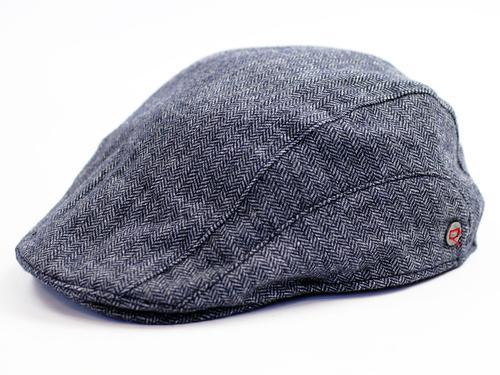 e6c8d7a6a2f5a5 Levi's® Retro Mod classic Herringbone Flat Cap in Grey/Blue
