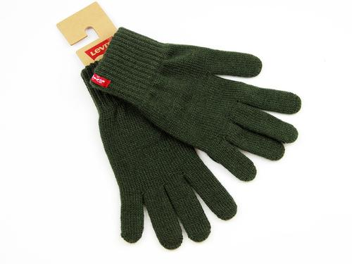 LEVIS RETRO KNITTED GLOVED BEN DARK GREEN