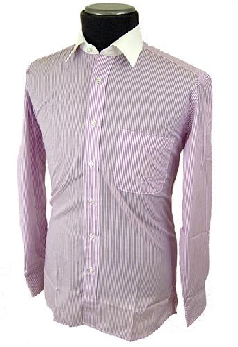 'Sergeant' - Mod Mens Double Two Striped Shirt (L)