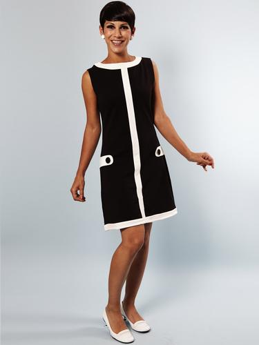 Louise MADEMOISELLE YEYE Retro 60s Mod Shift Dress