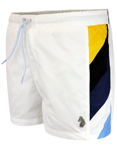 Monica LUKE 1977 Retro Colour Panel Swim Shorts W
