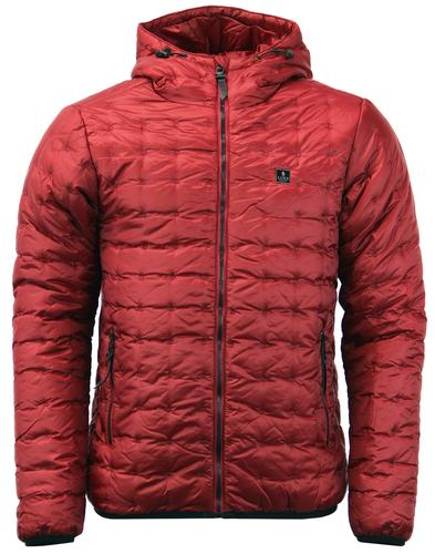 Paddie LUKE 1977 Retro Padded Ski Jacket in Cherry