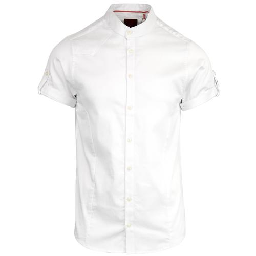 Baseline LUKE Retro Sixties Grandad Collar Shirt