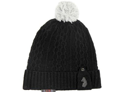 LUKE 1977 RETRO MOD 70S BOBBLE HAT BIRDY BLACK