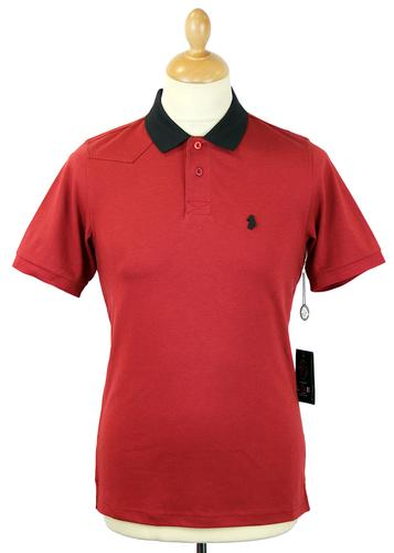 Plants LUKE 1977 Retro Mod Contrast Collar Polo BR