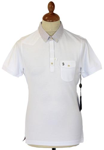 Razors LUKE 1977 Retro Mod Op Art Trim Polo Top W