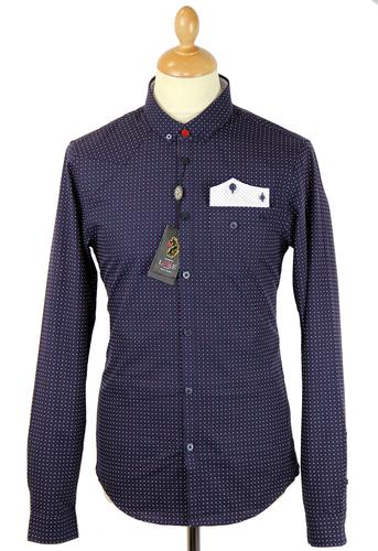 Woodhall LUKE 1977 Jacquard Cross Pocket Shirt (N)