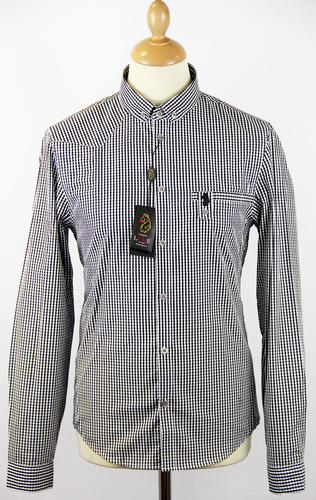 Guestlist LUKE 1977 Retro Mod Gingham Check Shirt