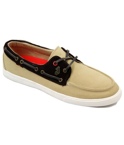 LUKE 1977 RETRO MOD BOAT DECK SHOES STONE
