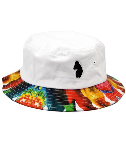 Manis Man LUKE 1977 Retro Indie Parrot Bucket Hat
