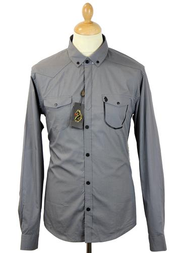 LUKE 1977 PRIVATE RETRO INDIE MILITARY PIPED SHIRT