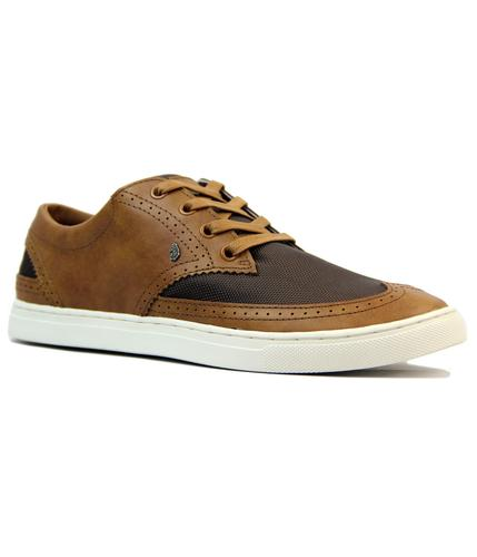 LUKE 1977 RETRO MOD 70s MIXED TRAINERS TAN