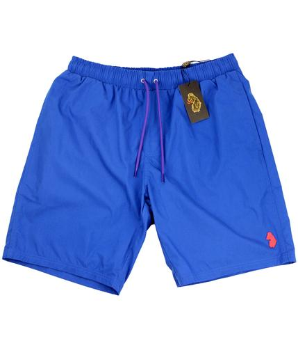 LUKE 1977 RETRO MOD SWIM SHORTS BLUE