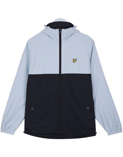 LYLE & SCOTT Retro Colour Block Hooded Jacket BLUE