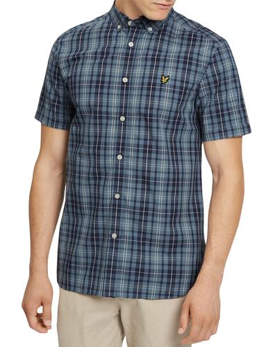 LYLE & SCOTT Men's Mod Plaid Check SS Shirt (MB)