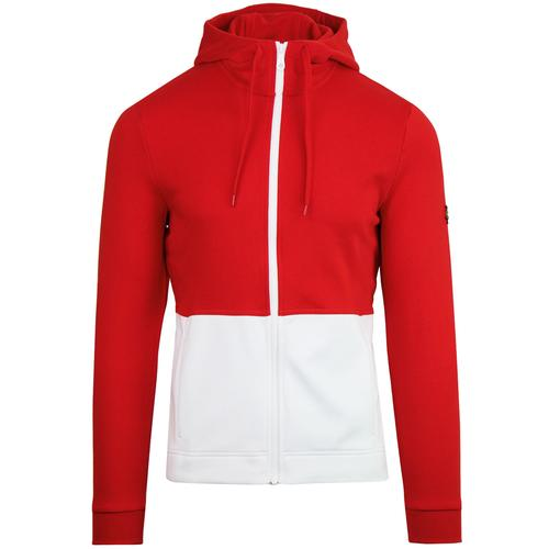 LYLE & SCOTT Casuals Zip Through Hooded Top (Red)
