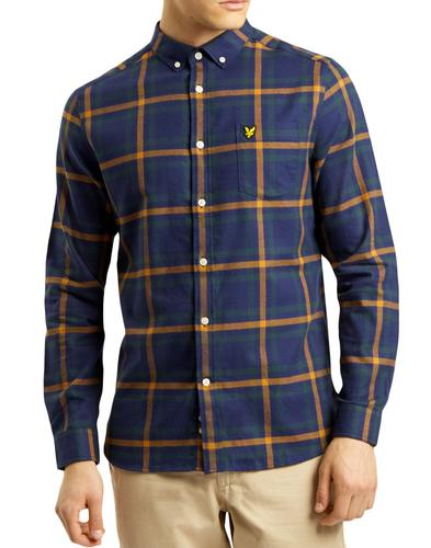 LYLE & SCOTT Mod Button Down Check Flannel Shirt