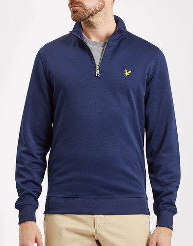 LYLE & SCOTT Mens Retro 70s Tricot Quarter Zip Top