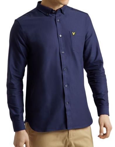 LYLE & SCOTT 60s Mod Button Down Oxford Shirt NAVY