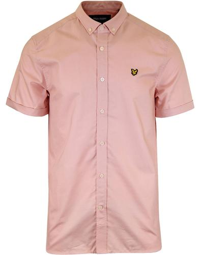 LYLE & SCOTT Mod Button Down SS Oxford Shirt PINK