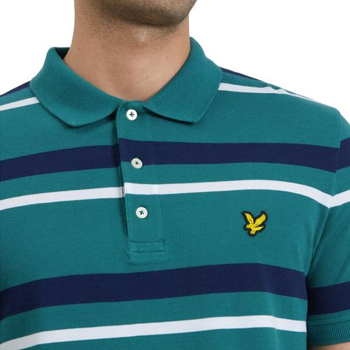 Lyle & Scott Mod Casuals Striped Polo in Green