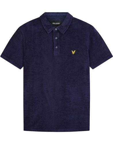 LYLE & SCOTT Mod Terry Towelling Polo Shirt (Navy)