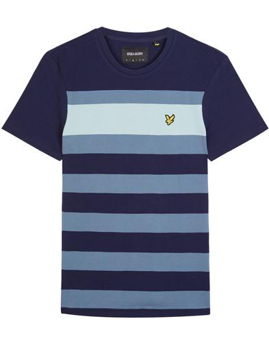 LYLE & SCOTT Retro Mod Textured Stripe T-Shirt (N)