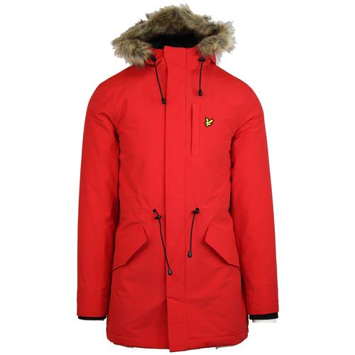 LYLE   SCOTT Winter Weight Microfleece Lined Parka in Red 666c5829cf