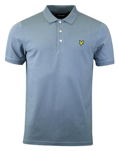 LYLE & SCOTT Retro Mod Pique Polo Top (Mist Blue)