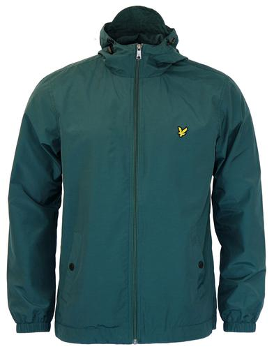 LYLE & SCOTT RETRO ZIP THROUGH HOODED JACKET GREEN