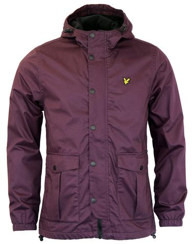 LYLE & SCOTT MICROFLEECE LINED PARKA JACKET PLUM