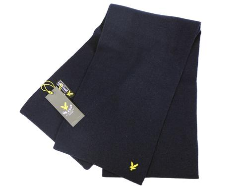 LYLE AND SCOTT RETRO MOD LAMBSWOOL SCARF NAVY