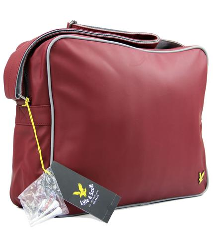 LYLE AND SCOTT RETRO GOLF SHOULDER BAG RED