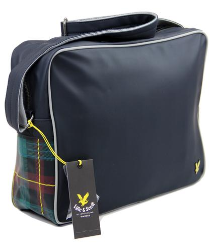 LYLE AND SCOTT RETRO MOD TARTAN SHOULDER BAG