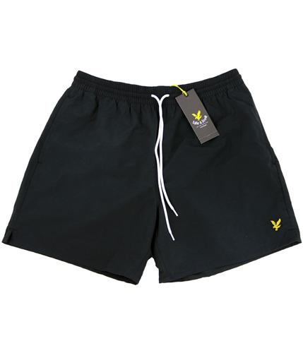 LYLE AND SCOTT RETRO SWIM SHORTS BLACK