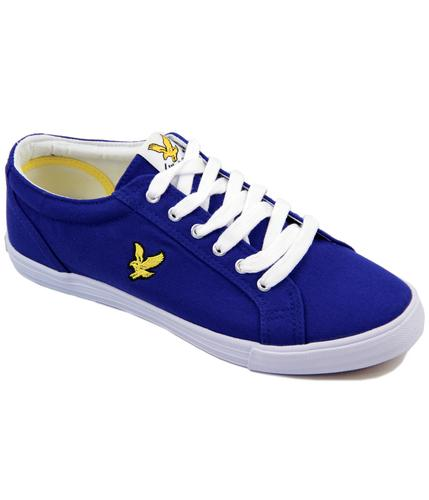 LYLE AND SCOTT RETRO MOD TRAINERS BLUE
