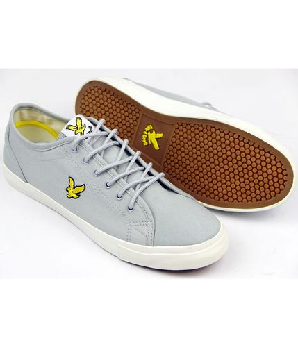 LYLE AND SCOTT RETRO MOD TWILL TRAINERS GREY
