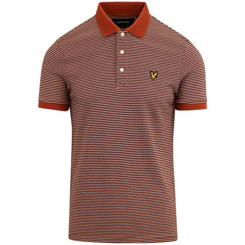 LYLE & SCOTT Retro 60's Feeder Stripe Pique Polo