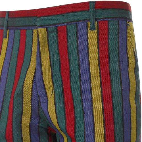 Madcap England Hendrix Stripe 1960s Psychedelic Slim Trousers