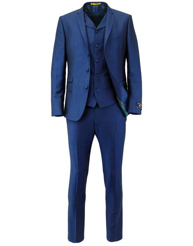Madcap Retro Mod 3 Button Blue Mohair Suit